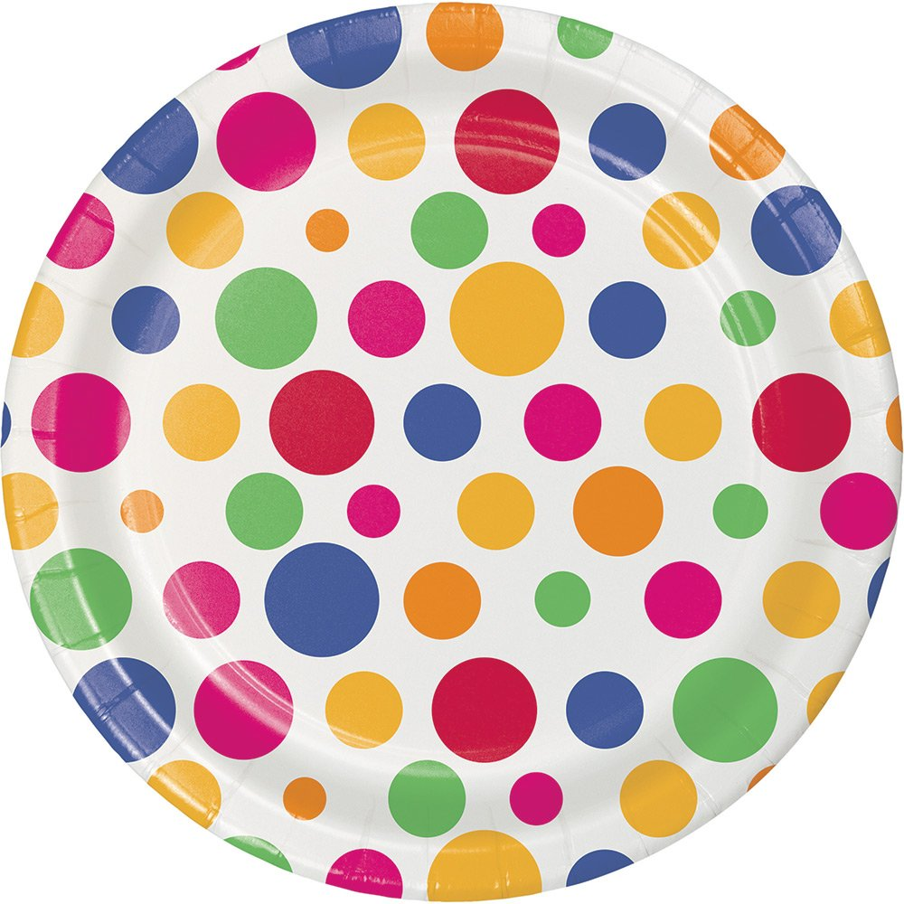 Party Dots Creative Converting 411876 96 Count Dessert//Small Paper Plates