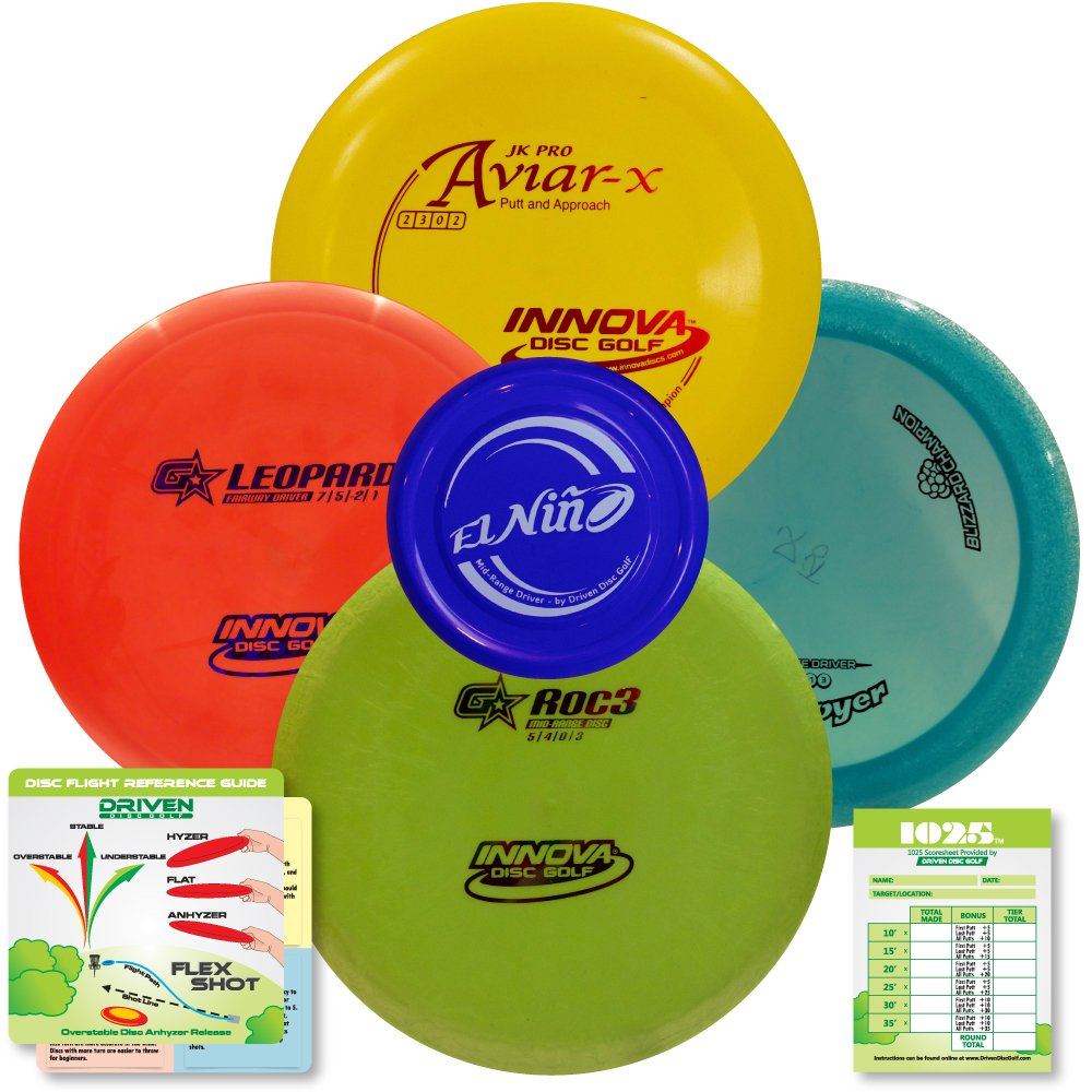 Innova Disc Golf Advanced Players Pack | Premium 4 Disc Set - for Intermediate and Experienced Players - 1025 Putting Game - Flight Reference Card - Driven Mini Marker | Disc Colors Vary by Driven Disc Golf (Image #2)