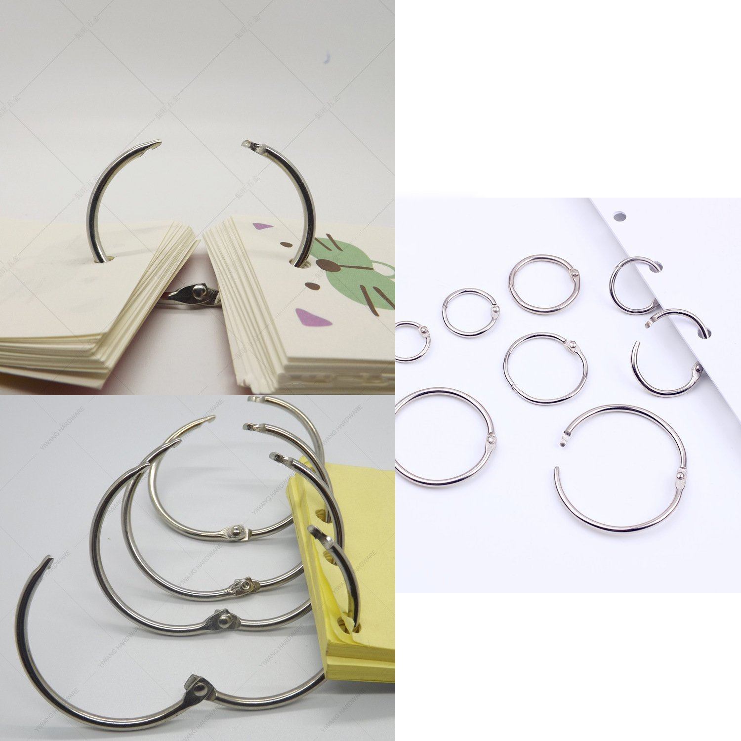 Regpre Loose Leaf Binder Rings 3/4 Inch Binder Rings 0.75 and 1 Inch Binder Rings Set of 100 and Single Hole Punch by Regpre (Image #6)