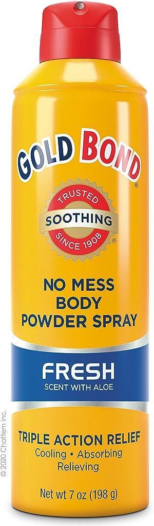 Gold Bond No Mess Spray Powder, Fresh, Gold, 7 Oz