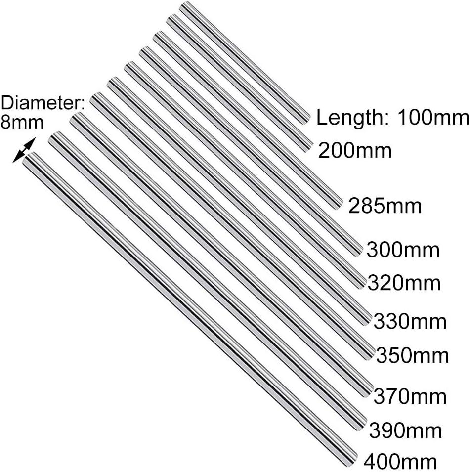 per stampante 3D 8 mm cromata Barra cilindrica in acciaio al carbonio per barra lineare