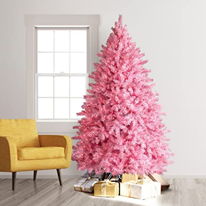 treetopia pretty in pink artificial christmas tree 4 feet pink lights
