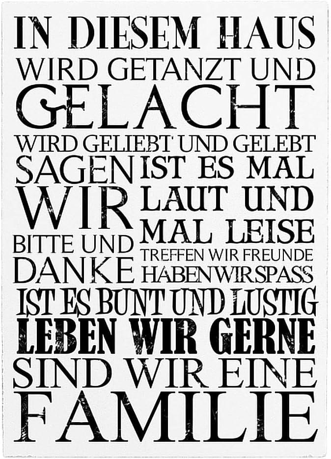 HomeDecTime 0-9 Holz T/ürnummer Hausnummer Vintage Retro Nummern Schild T/ürschild Acht