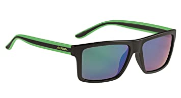 Alpina Erwachsene Lenyo P Outdoorsport-Brille, Black Matt-Green, One Size