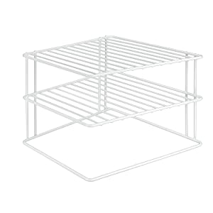 Metaltex Silos 364202095 Corner Shelf Insert 2 Levels 25 x 25 x 19 cm White