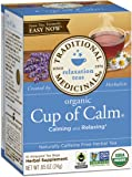 Traditional Medicinals Organic Cup of Calm Tea, 16 Tea Bags (Pack of 6)
