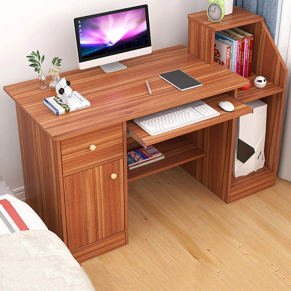 Sturdy Office Desk Gaming Desk Workstation for Home Office,Computer Desk with Hutch,Modern Writing Desk with Storage Shelves & Keyboard Tray