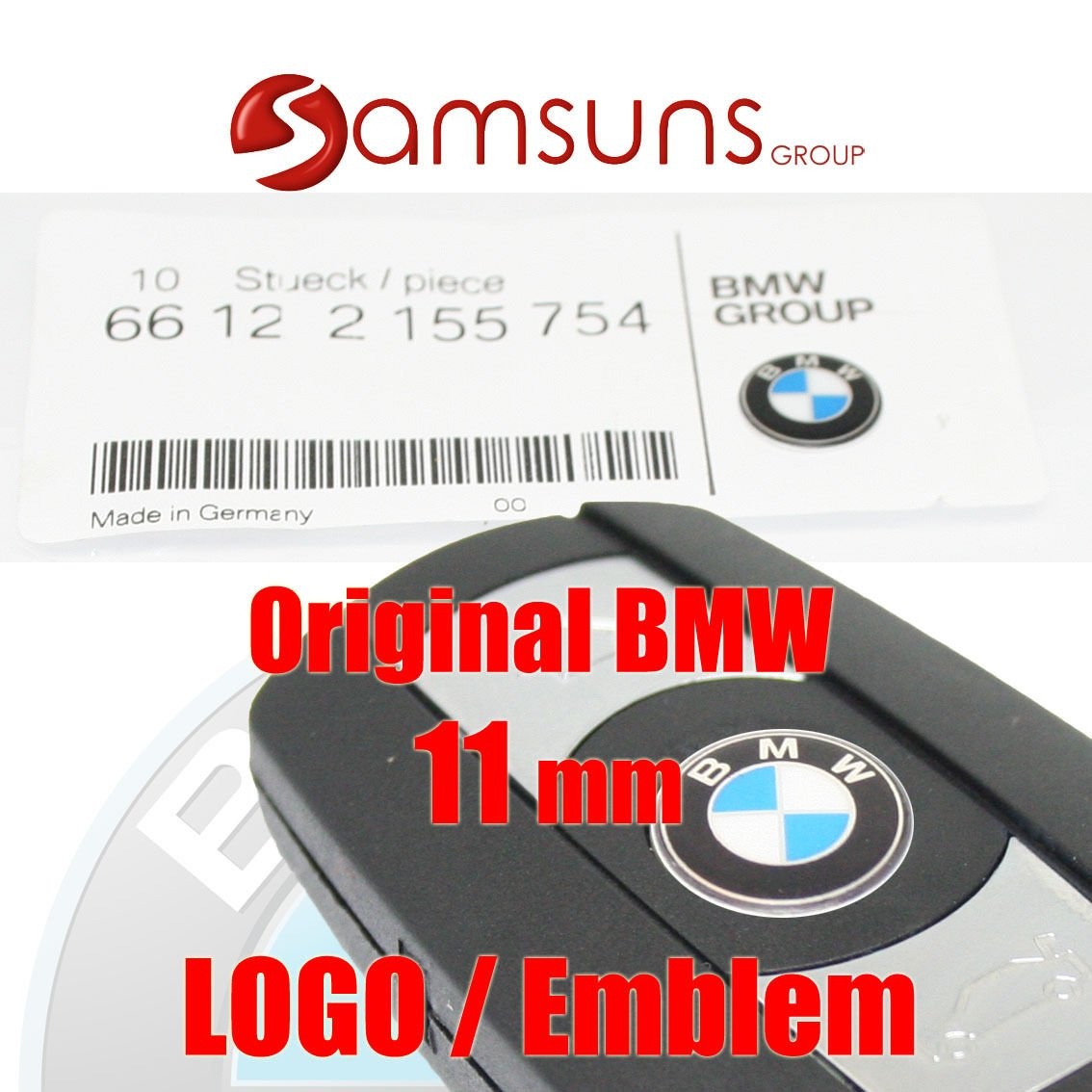 66122155754 V/éritable logo//embl/ème pour cl/é /électronique BMW
