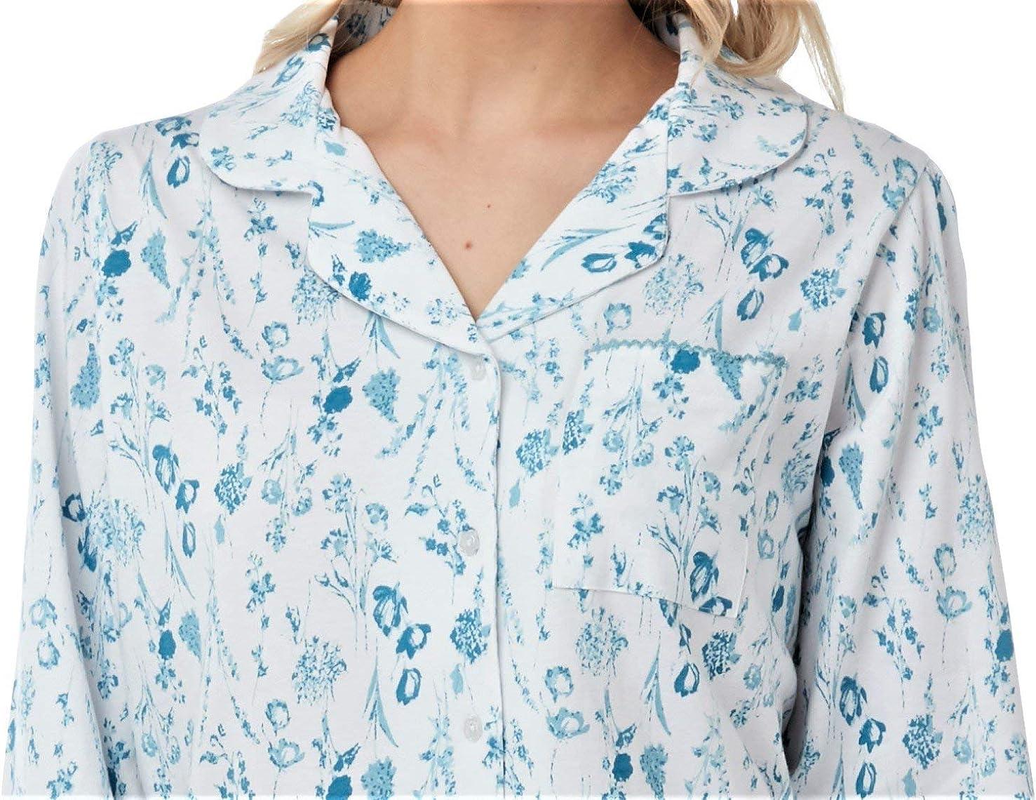 in jersey in puro cotone a maniche corte o lunghe Pigiama da donna