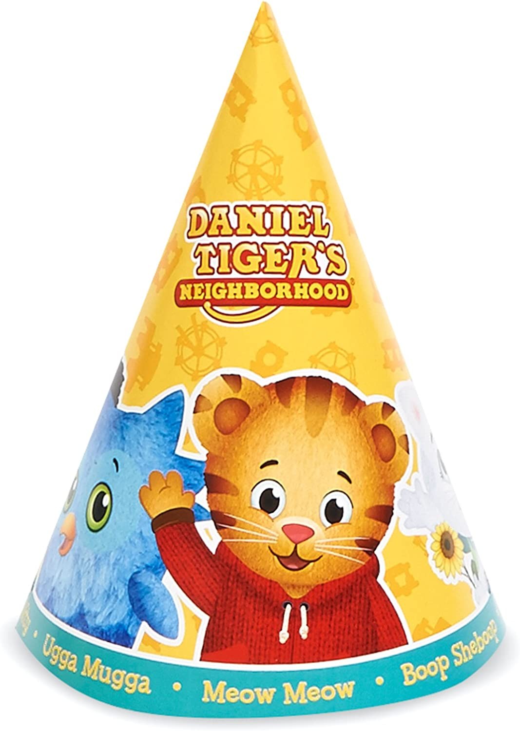 BirthdayExpress Daniel Tiger Party Supplies 16 Pack Cone Party Hats