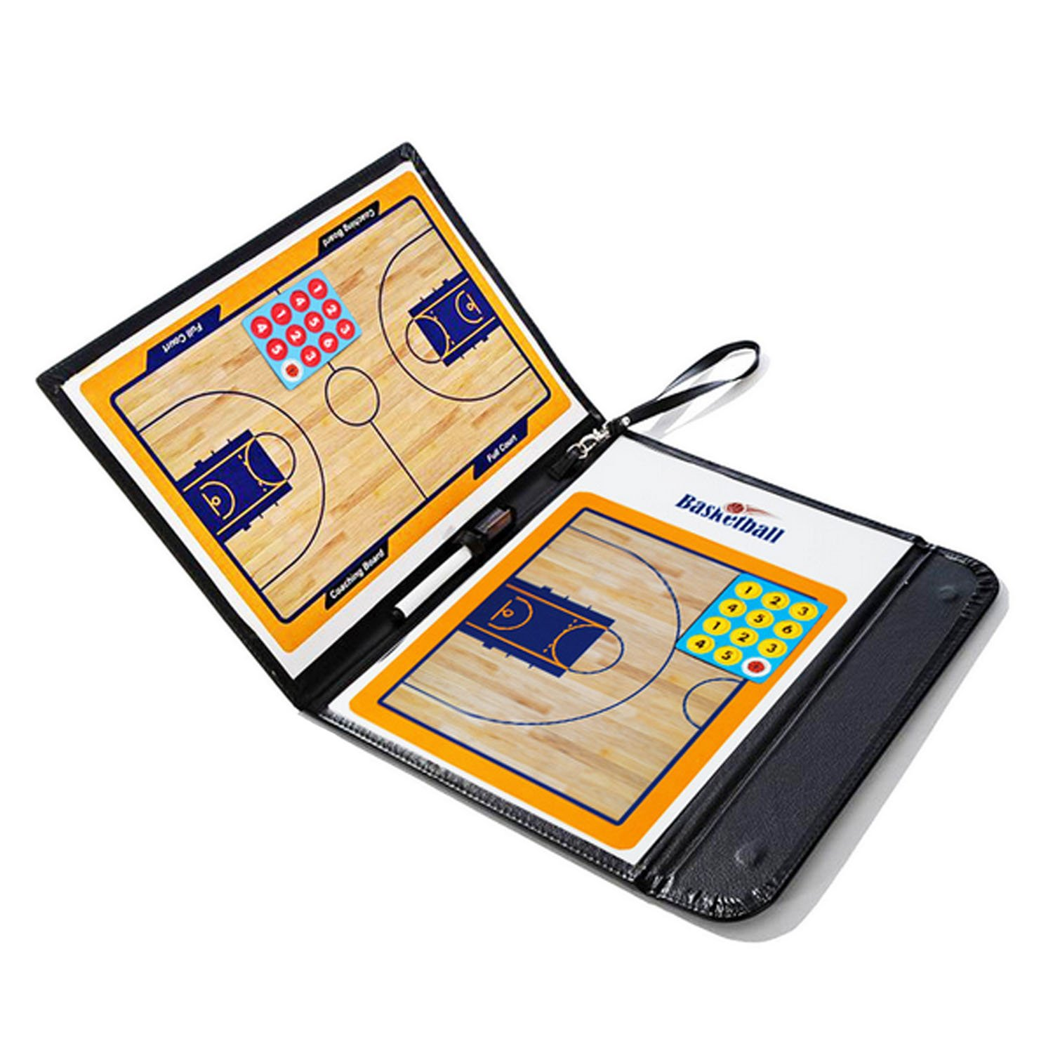 Foldable Magnetic Basketball Coach Tactic Board Folder Plate Book Basketball Training Accessories-Elisona