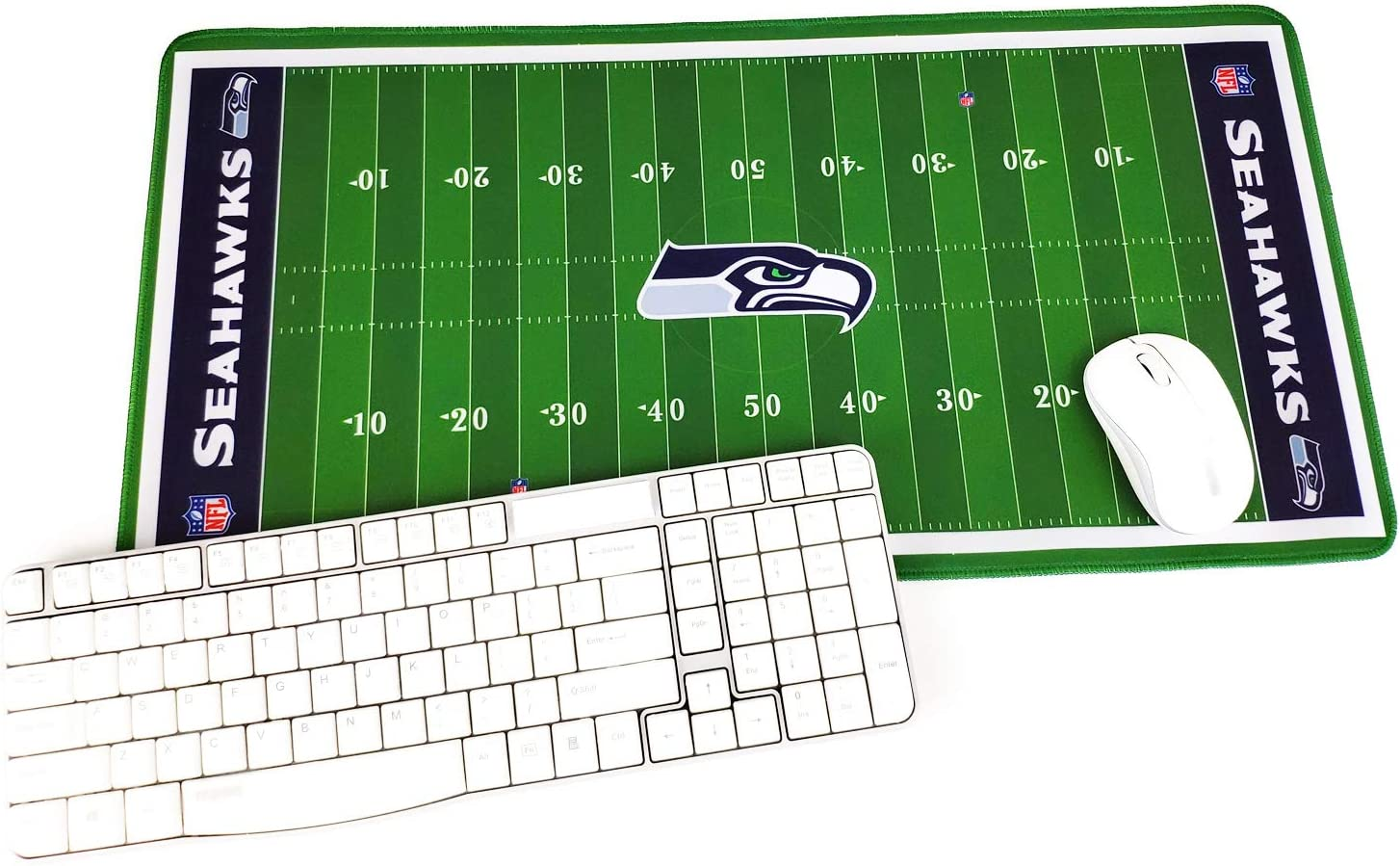 """TRIPRO Football Field Design Large Gaming Mouse Pad XXL Extended Mat Desk Pad Mousepad,Size 23.6""""x11.8"""",Water-Resistant,Non-Slip Base,for Seahawks Fans Gifts"""