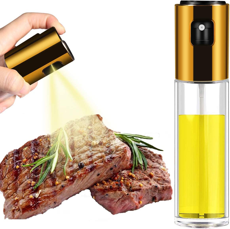 Olive Oil Sprayer for Cooking, Food Grade Spray Transparent Vinegar Bottle Oil Dispenser, Portable Oil Bottle for Kitchen Barbecue, Salad and Outdoor Barbecue
