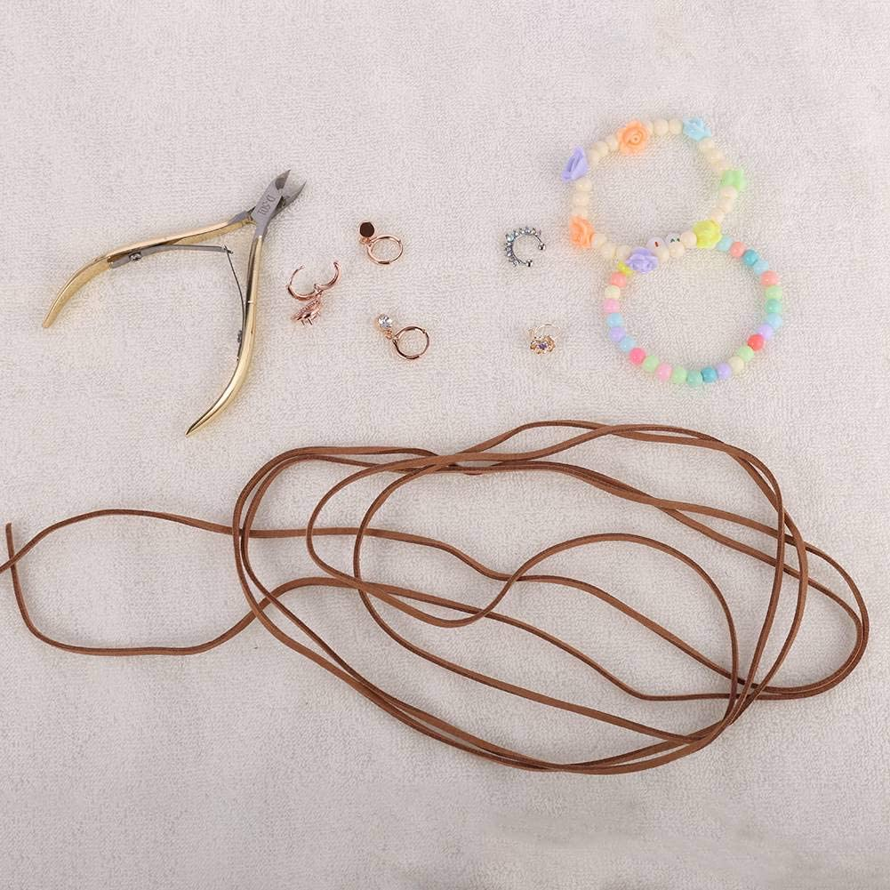 Fuyamp 10 Pcs Suede Leather Cord 3 mm by 5 M Flat Thin Leather Cord Braiding String Vintage Colors Necklace Bracelet Rope Faux Suede Leather String for DIY Jewellery Making Handmade Crafts