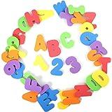 BonBon 36-Count Non-Toxic Alphabet Toddler Bath Toys Educational Number Letters