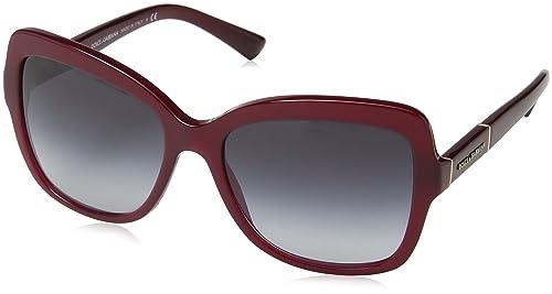 Dolce & Gabbana Occhiali da sole oversize quadrati in nero polarizzato DG4244 501/T3 57