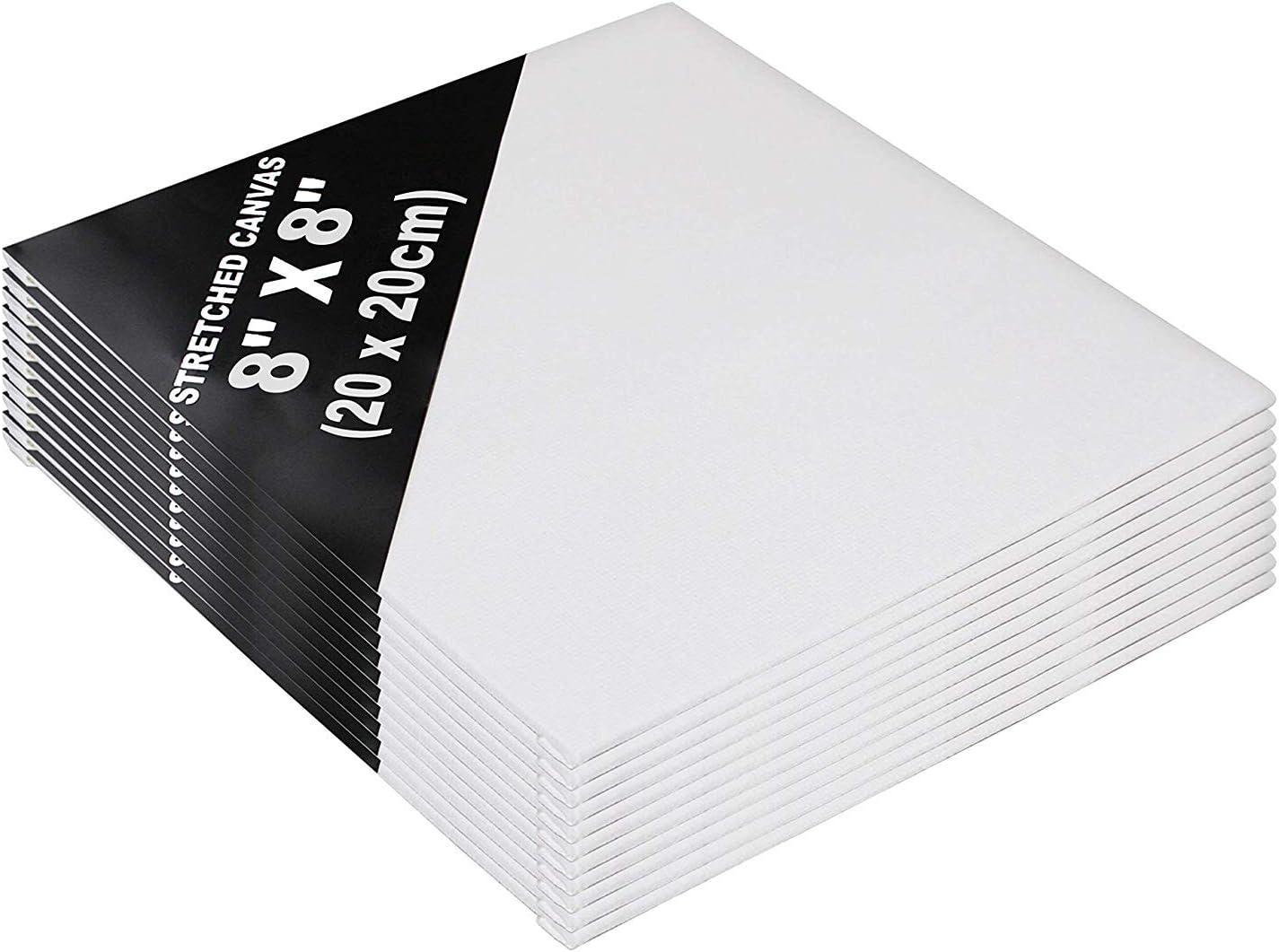 Set Lienzos 24 Piezas - Set Lienzos Blancos para Artistas - Lienzos de 20 x 20cm - Panel de Lienzo para Pintar - Lienzo en Blanco Estirado para Pintura Acrílica, Acuarela (24 Pcs): Amazon.es: Hogar