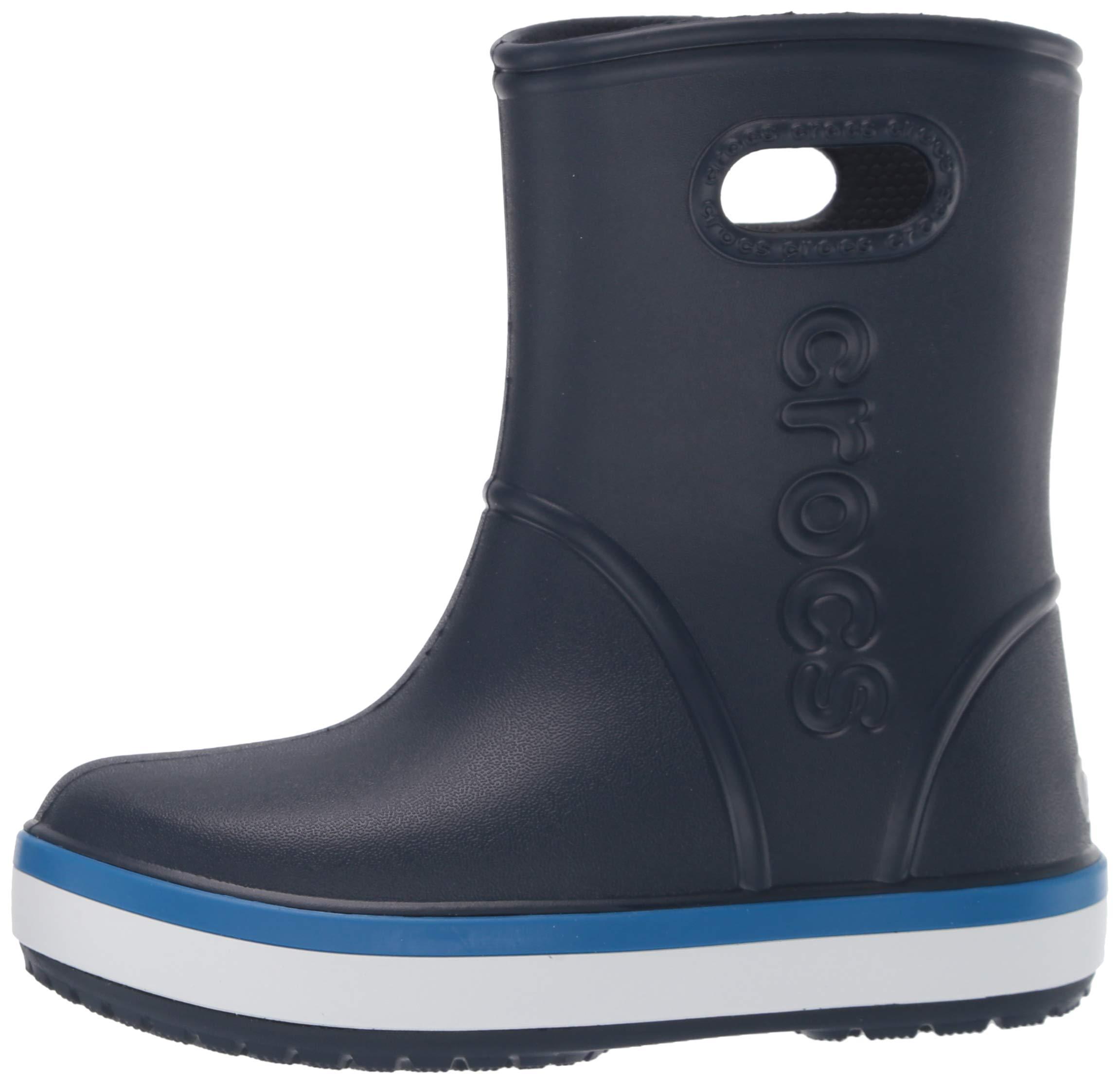 Crocs Unisex Crocband Rain Boot, Navy/Bright Cobalt, 2 M US Little Kid by Crocs (Image #5)