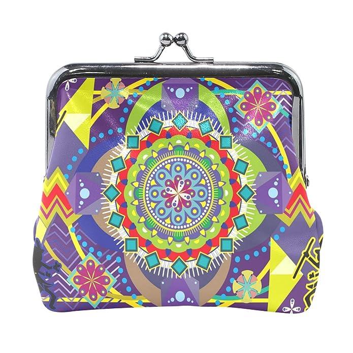 Amazon.com: LALATOP Huichol Vector Art - Monedero para mujer ...