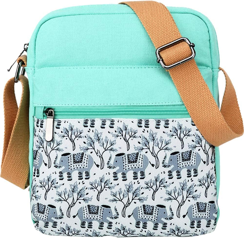 Choco Mocha Girls Crossbody Purse for Teen Girls Elephants Tween Purses for Girls 10-12 Small Messenger Bags for Little Girls Purses Kids 9-10 Christmas Gifts, Gray Elephant
