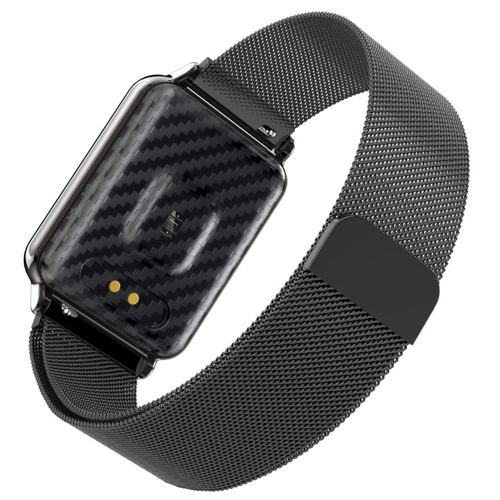 YNAA for Android iOS, Waterproof Smart Sport Watch, Blood Pressure Heart Rate Monitor Remote Photography Smart Bracelet (Black) by YNAA (Image #2)