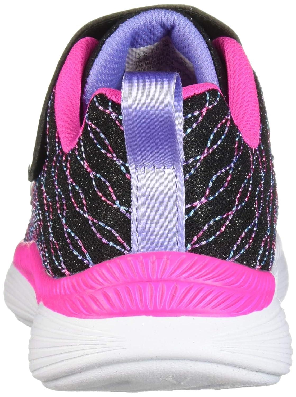 Skechers Mädchen Move 'N Groove Sparkle Spinner Sneaker Black Sparkle/Neon Pink/Multi