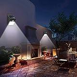 مستشعر حركة ومصباح اضاءة يعمل بالطاقة الشمسية مضاد للماء مع 8 اضواء ليد، مجس بيروكهربي للاستخدام في اضاءة الحدائق…
