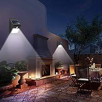 8 LED Waterproof Solar Motion Sensor Wall Light Outdoor PIR Garden Pathway Night Lamp -Black