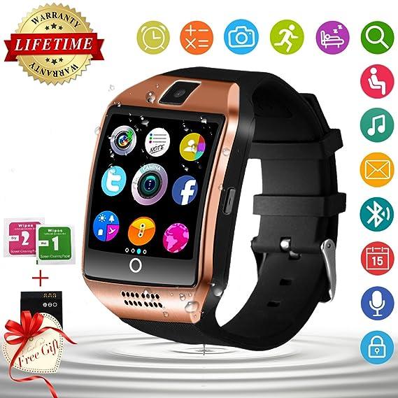 Bluetooth Smart Watch with Camera Waterproof Smartwatch Touch Screen Unlocked Cell Phone Watch Smart Wrist Watch Smart Watches for Android Phones Men ...