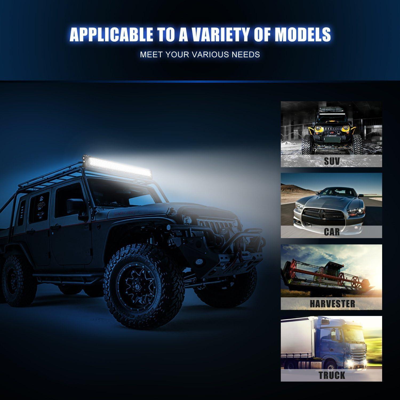 Auxtings 52 inch 132cm 300W CREE LED Faro da Lavoro Luce Barra Spot Flood LED light bar per Off Road Moto 4WD SUV ATV UTV Camion