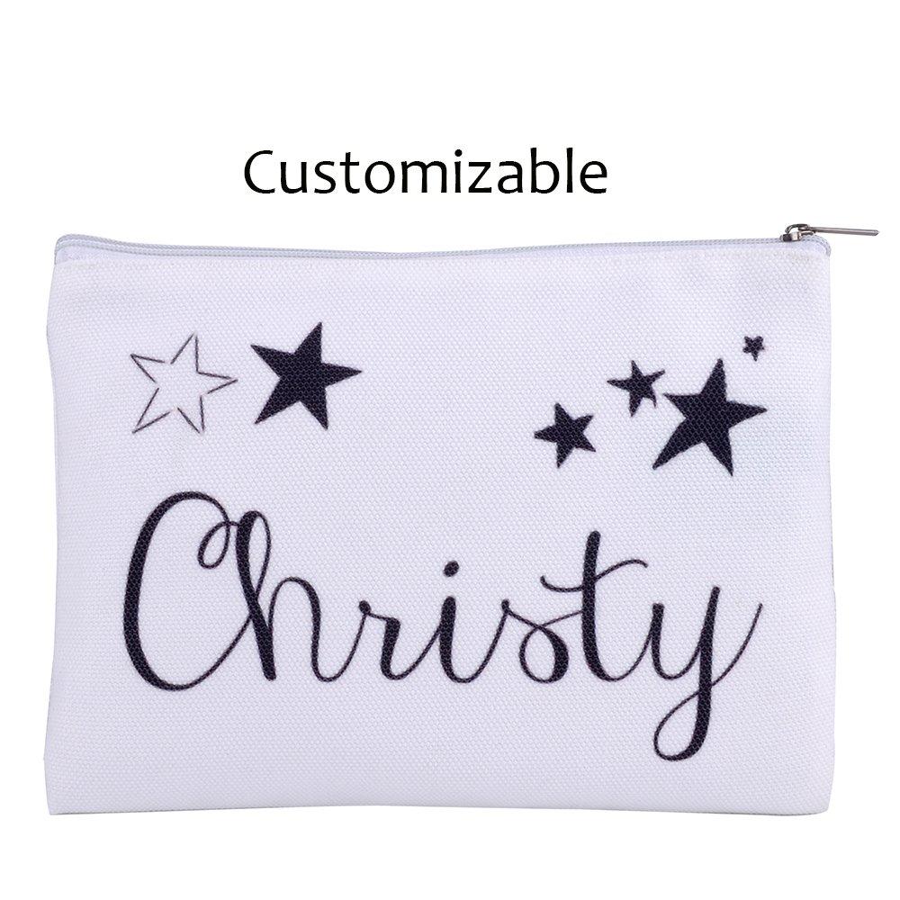 Amazon.com   Personalized 16oz Makeup Bag, Custom Bridal Hen Party Bag, Bridesmaid  Gift Bag, Canvas Cosmetic Bag Organizer   Beauty 6ba160b0d2