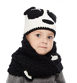 622b0c07993 Sumolux Winter Kids Warm Fox Animal Hats Knitted Coif Hood Scarf Beanies  for Autumn Winter