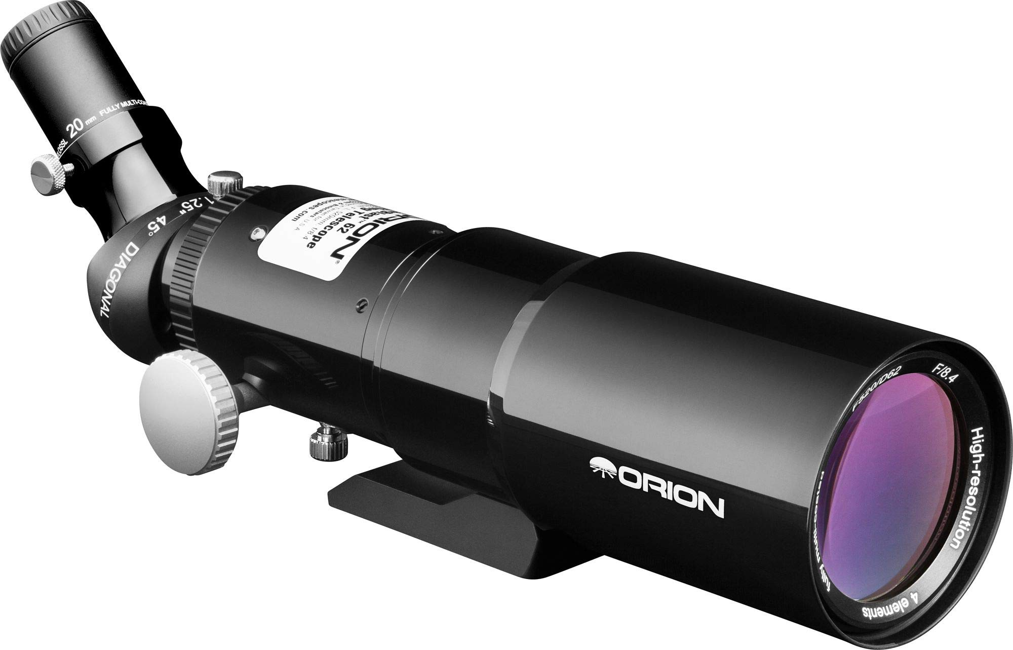 Orion 10149 StarBlast 62mm Compact Travel Refractor Telescope (Black) by Orion