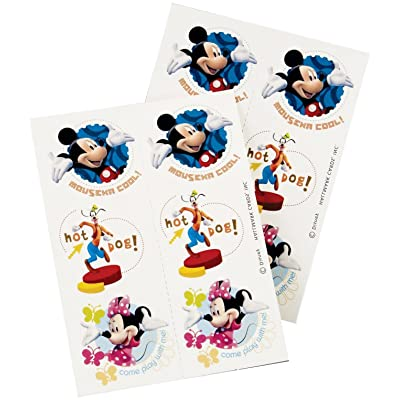 Mickey Mouse Tattoos 4 Sheets: Toys & Games [5Bkhe1807104]