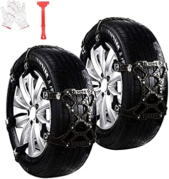 WeyTy Car Snow Tire Chains Anti Slip Snow Skid Mud Chains Winter Universal Adjustable for Hyundai Cars//SUV//Truck//ATV Anti-Skip Mud and Sand Tire Traction Device Tire Width with 6-11 6pcs Snow