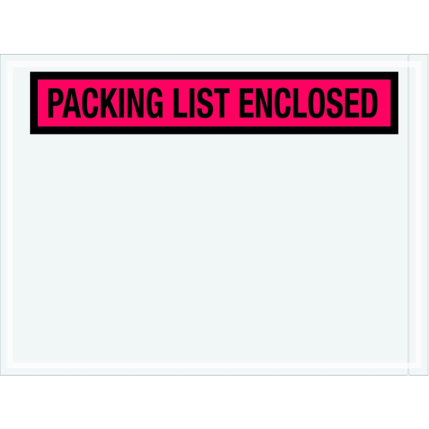 Panel Face Pack of 1000 Red Tape Logic TLPL451Packing List Enclosed Envelopes 4 1//2 x 6