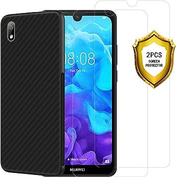 ANEWSIR Cristal Templado de Huawei Y5 2019/honor 8s + Funda Huawei ...