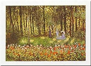 Buyartforless Artists Family at Garden by Claude Monet 16x20 Art Print Poster