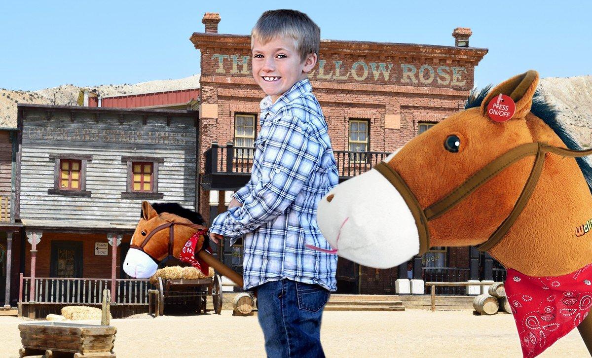 WALIKI TOYS Stick Horse Unicorn (With Sound)