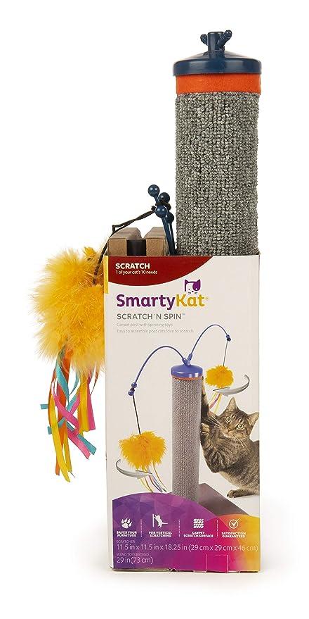 SmartyKat Scratch N Spin Carpet Scratching Post Cat Scratcher
