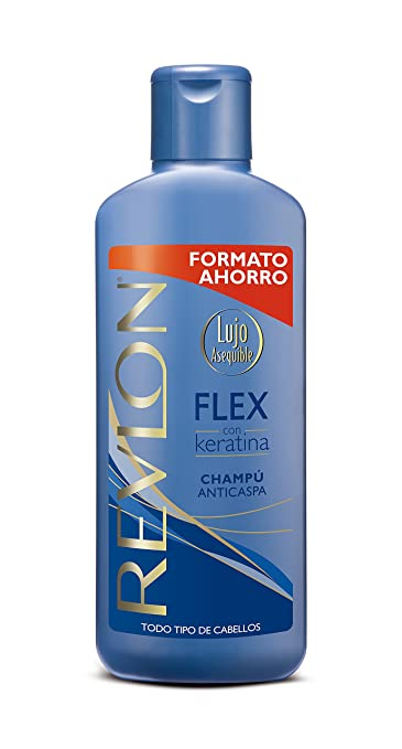 Amazon.com : Revlon Flex Champú Anticaspa con Keratina Todo Tipo de Cabello Anti-Dandruff Shampoo All Hair Types 650 ml 22 oz : Beauty