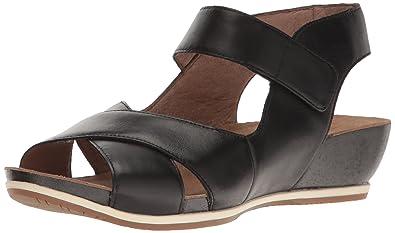 d029aa21817 Dansko Women s Violet Flat Sandal Black Burnished 35 EU 4.5-5 ...
