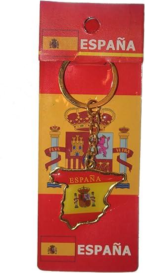 Barcelona Madrid Spain España Spanish Flag Fridge Magnet or Keyring