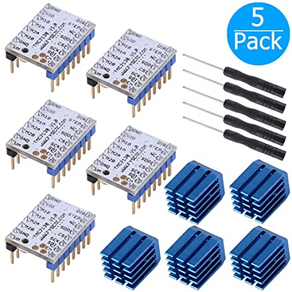 EEEKit 5-Pack TMC2100 TMC2130 Stepstick Stepper Motor Driver Module Board,  with Heat Sink for 3D Printer