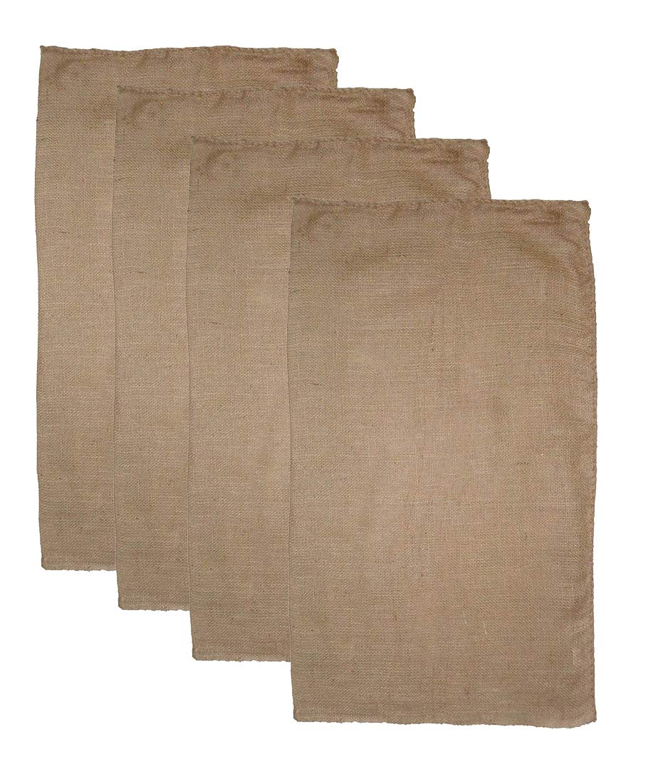 COTTON CRAFT - Burlap 4 Pack Potato Sack Race Bag 24x 39 Inch - Made from Sturdy Rugged 100% Natural Eco-Friendly Jute Burlap