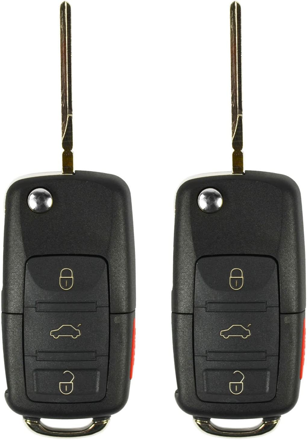 ECCPP Replacement fit for Uncut Keyless Entry Remote Control Car Key Fob Shell Case Volkswagen Beetle//Golf//Jetta//Passat HLO1J0959753AM Pack of 1
