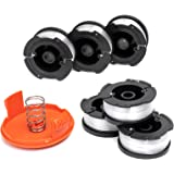 X Home AF-100 Weed Eater Spools and Cap Combo Set, Compatible with Most Black and Decker String Trimmers, Durable and…