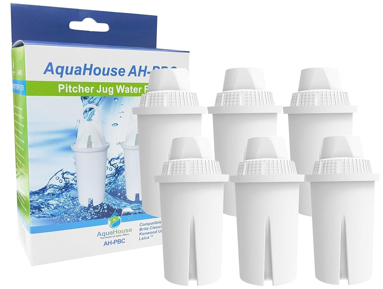 6x Aquahouse ah-pbc filtro compatibile per cartuccia filtro acqua Brita Classic brocche, Kenwood, Laica, Pearlco, Dafi, universale classico brocca filtro CMIBJCK003639
