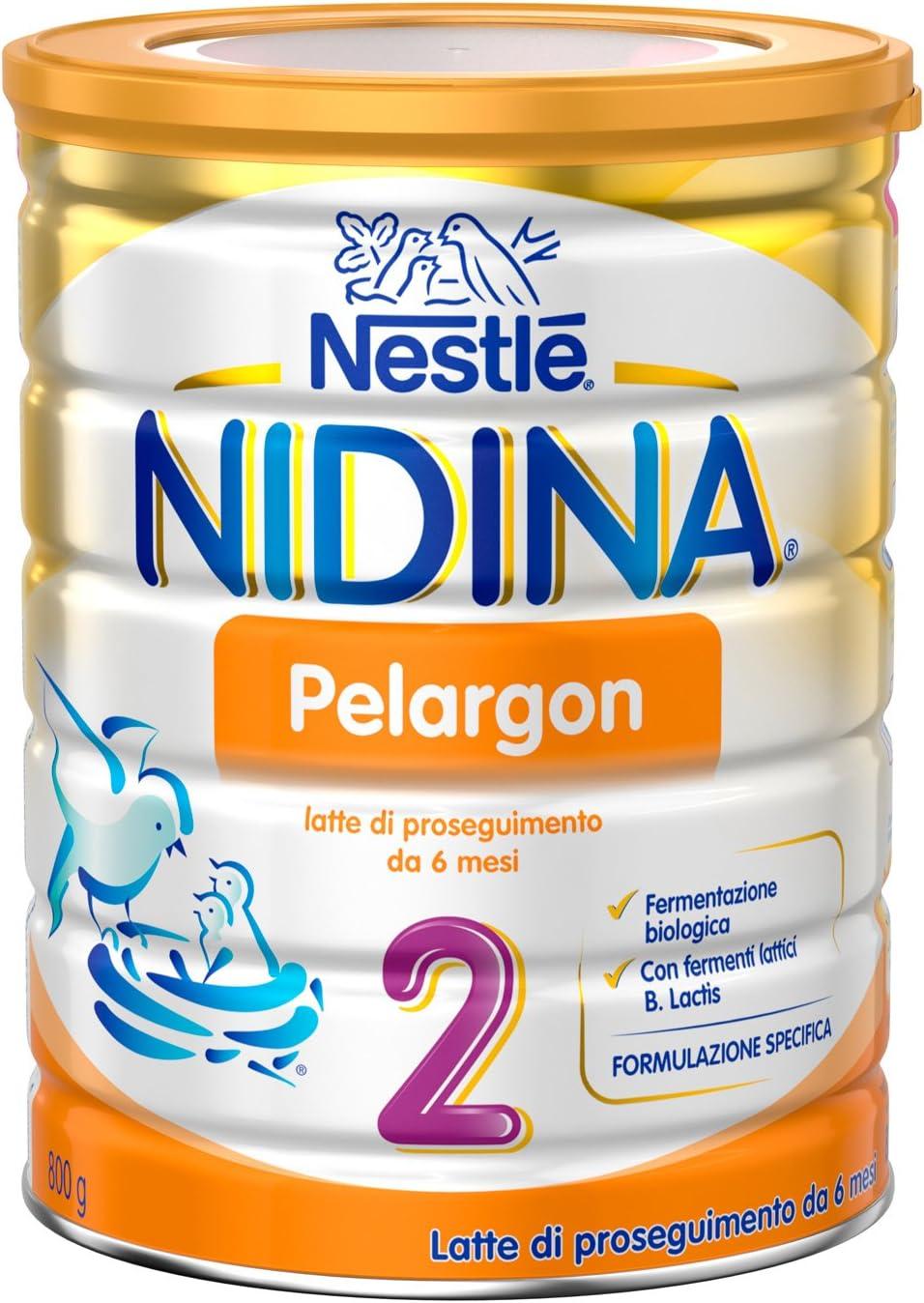 Nestlé Nidina Pelargon 2 da 6 Mesi Latte di Proseguimento in Polvere...