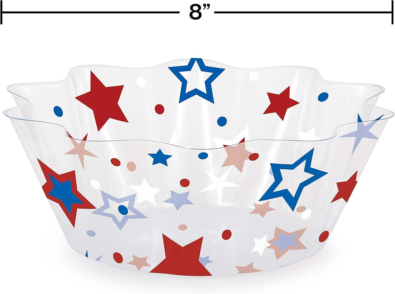Amazon Com Creative Converting Patriotic Stars Plastic Serving Bowls Serving Bowls